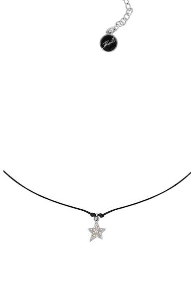 Karl Lagerfeld Medálos nyaklánc Swarovski kristályokkal női