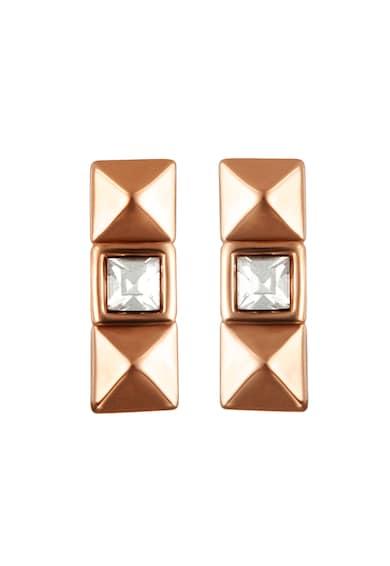 Karl Lagerfeld Cercei decorati cu cristale Swarovski, placati cu aur rose Femei
