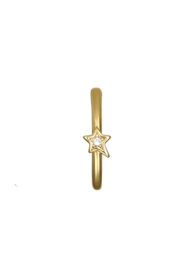 Karl Lagerfeld Cercei cu tija si cristale Swarovski, placati cu aur Femei