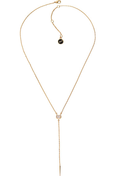 Karl Lagerfeld Colier decorat cu cristale Swarovski, placat cu aur Femei
