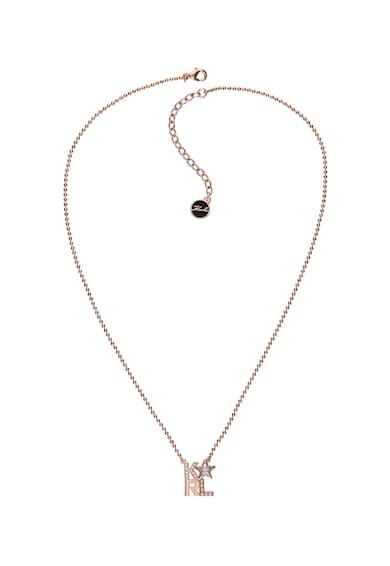 Karl Lagerfeld Arannyal bevont nyaklánc Swarovski kristályokkal díszített medállal női