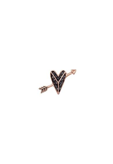 Karl Lagerfeld Cercei in forma de inima cu cristale Swarowski, placati cu aur rose de 12K Femei