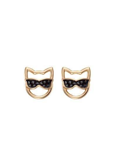 Karl Lagerfeld 12 karátos arannyal bevont macska alakú fülbevaló Swarovski® kristályokkal női
