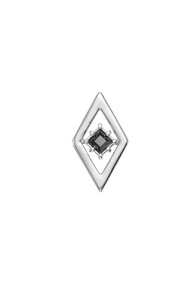 Karl Lagerfeld Ródium bevonatú fülbevaló kontrasztos Swarovski® kristályokkal női
