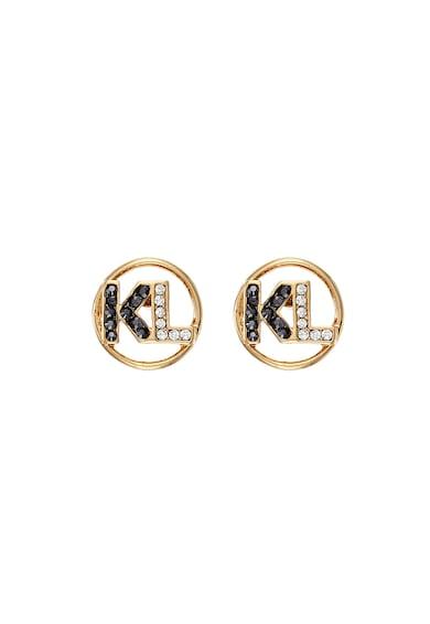 Karl Lagerfeld 12 karátos arannyal bevont fülbevaló Swarovski kristályokkal női