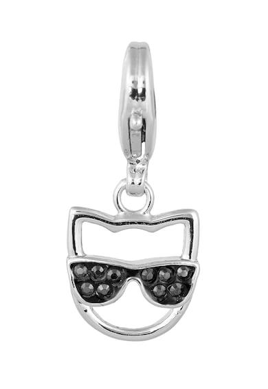 Karl Lagerfeld Ródium bevonatú medál Swarovski® kristályokkal női