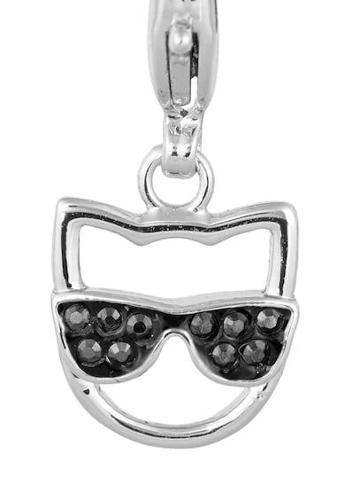 Karl Lagerfeld Talisman placat cu rodiu, cu cristale Swarovski Femei