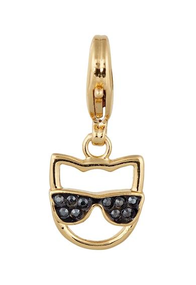 Karl Lagerfeld Talisman cu cristale Swarovski, placat cu aur 12 K Femei