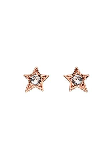 Karl Lagerfeld Cercei in forma de stea cu cristale Swarovski®, placati cu aur rose 12 K Femei