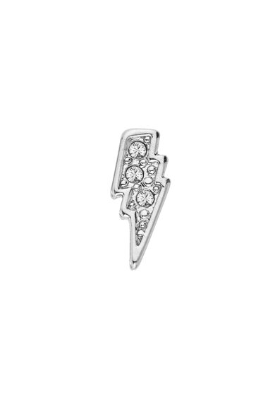 Karl Lagerfeld Ródium bevonatú villám alakú fülbevaló Swarovski® kristályokkal női