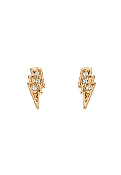 Karl Lagerfeld 12 karátos arannyal bevont villám alakú fülbevaló Swarovski® kristályokkal női