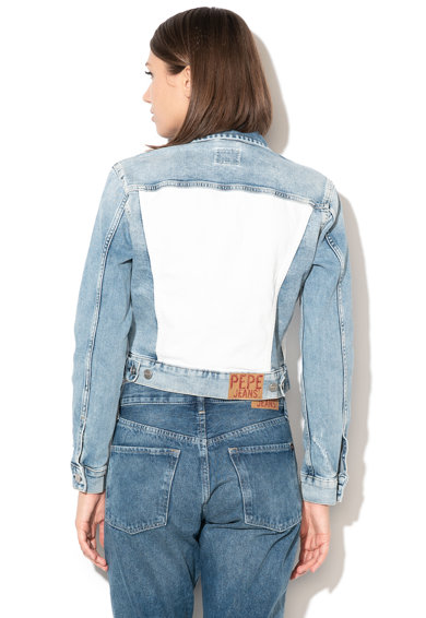 Pepe Jeans London Jacheta din denim cu insertii contrastante Tess Femei