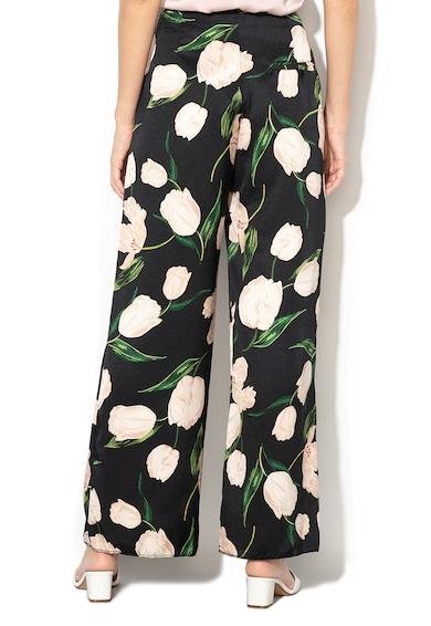 Marella Pantaloni cu croiala ampla si imprimeu floral Cresta Femei