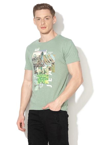 Pepe Jeans London Amasis slim fit póló fényképes lenyomattal férfi