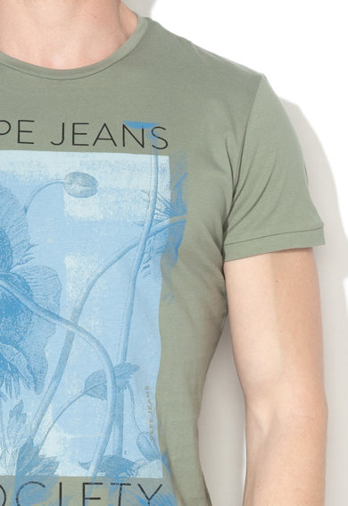 Pepe Jeans London Tricou slim cu imprimeu floral Freddie Barbati