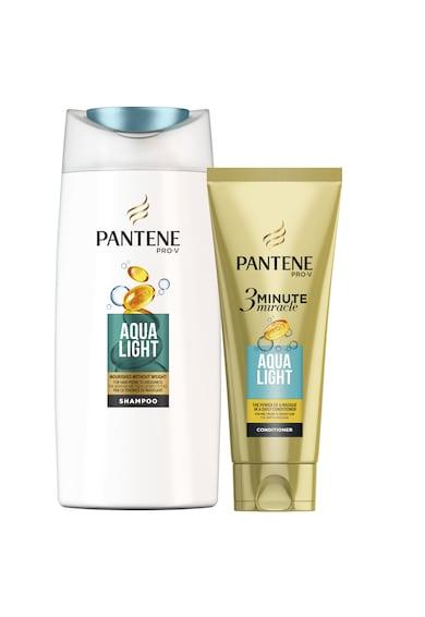 Pantene Set ingrijire par  Pro-V Aqua Light pentru par gras: Sampon, 675 ml + Balsam 3 Minute Miracle, 200 ml Femei