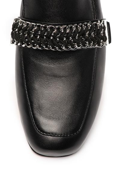 Max&Co Pantofi loafer de piele cu garnituri din lant Amber Femei