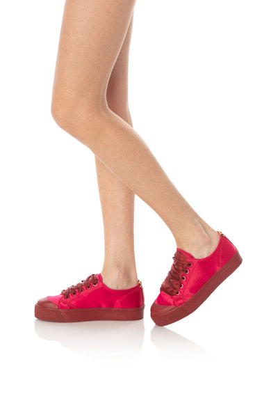 Scotch & Soda Pantofi sport flatform cu aspect satinat Sylvie Femei