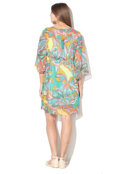 Sisley Rochie mini cu model floral si aspect transparent Femei