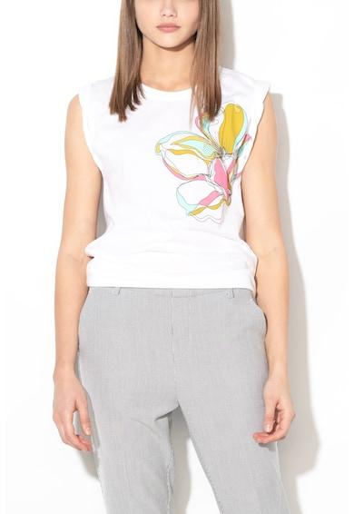 Sisley Tricou fara maneci, cu imprimeu grafic Femei