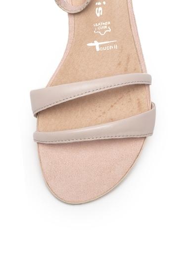 Tamaris Sandale de piele si piele ecologica, cu bareta pe glezna Femei