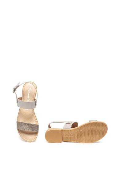 Tamaris Sandale de piele cu aspect lucios Femei