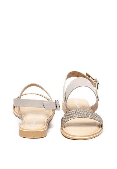Tamaris Кожени сандали с бляскав ефект Жени