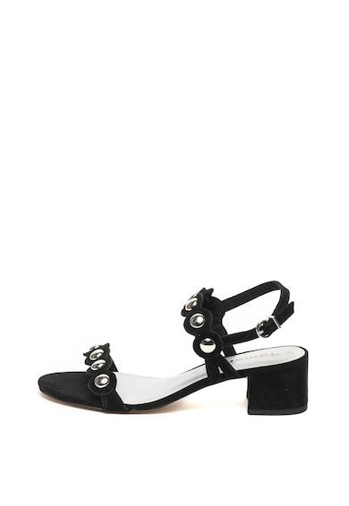 Tamaris Велурени сандали с метални нитове Жени