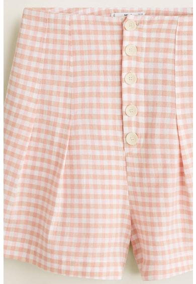 Mango Lauren kockás rövidnadrág női