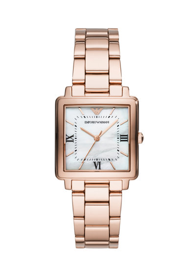 Emporio Armani Квадратен часовник от неръждаема стомана Жени
