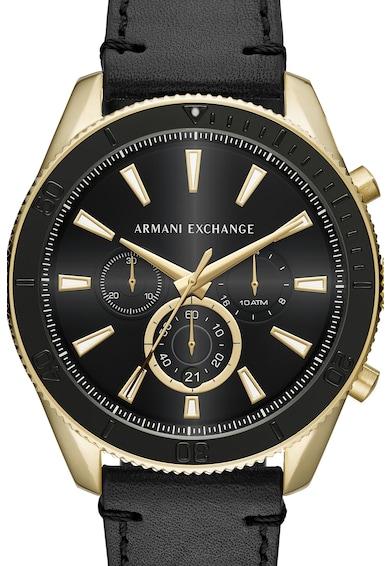 armani exchange Часовник с кожена каишка и хронограф Мъже