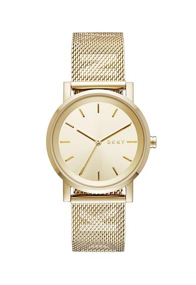DKNY Кварцов часовник с метална верижка Жени