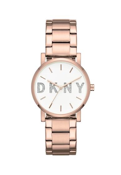 DKNY Кварцов часовник с брокат на циферблата Жени