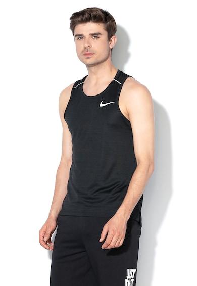 Nike Top cu logo reflectorizant si Dri-Fit, pentru alergare Barbati