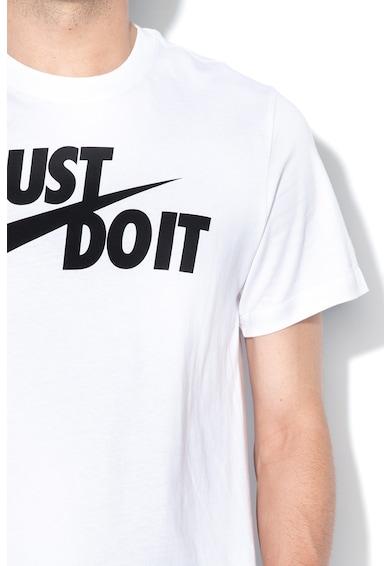 Nike Tricou cu imprimeu logo si decolteu la baza gatului Barbati