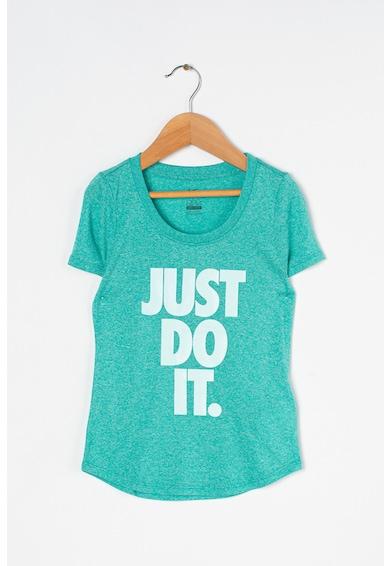 Nike Tricou cu imprimeu logo si Dri-Fit Fete