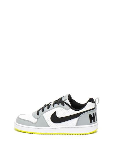 Nike Pantofi sport cu detaliu neon pe talpa Court Borough Baieti
