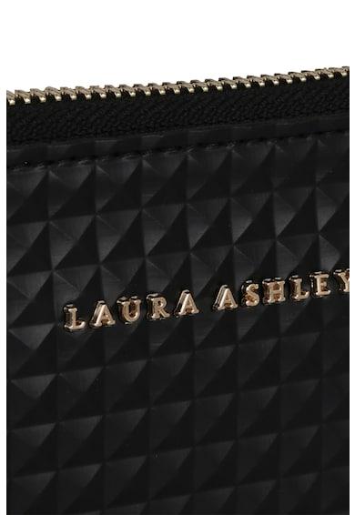 Laura Ashley Etui de piele ecologica, cu fermoar si bareta de lant detasabila Femei