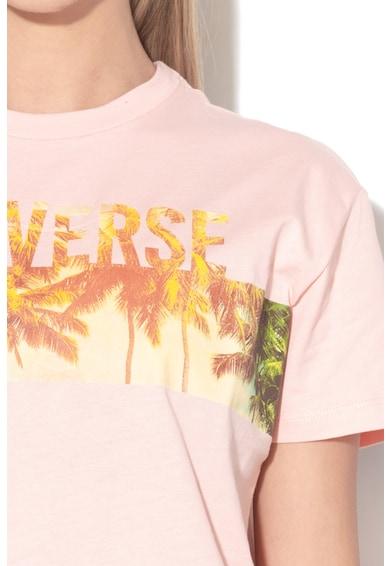 Converse Trópusi és logómintás póló női