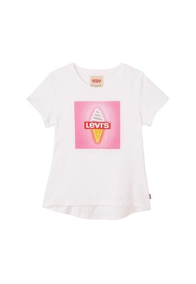 Levi's Kids Tricou cu imprimeu si terminatie asimetrica Fete