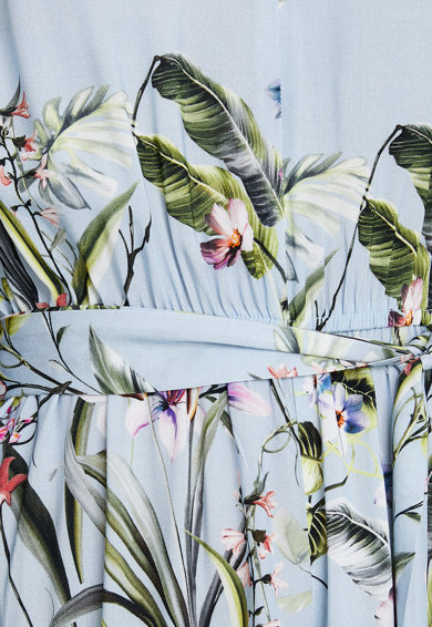 KOTON Salopeta cu decolteu in V si model floral Femei
