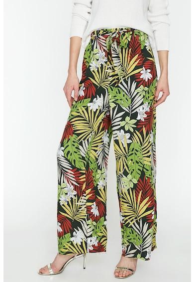 KOTON Pantaloni cu croiala ampla si model tropical Femei
