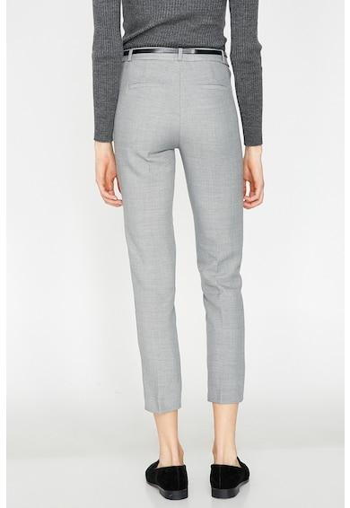 KOTON Pantaloni crop slim fit cu o curea Femei