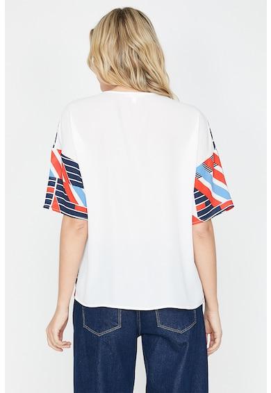 KOTON Bluza cu maneci scurte si model geometric Femei