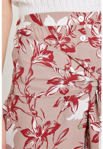 KOTON Флорална пола със странични цепки на подгъва Жени