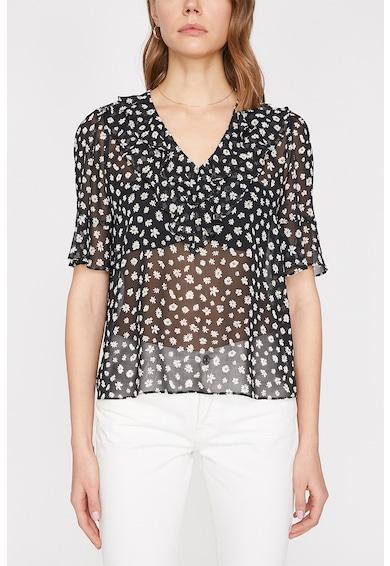 KOTON Bluza cu imprimeu floral si aspect transparent Femei