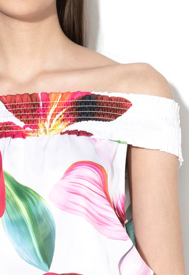 Liu Jo Ejtett vállú virágmintás strand overall női