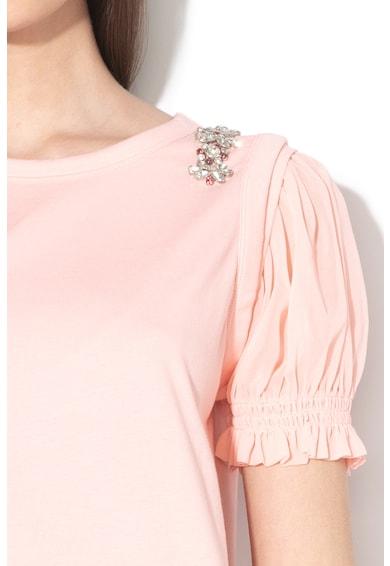 Liu Jo Strasszkövekkel díszített póló sifon ujjakkal női