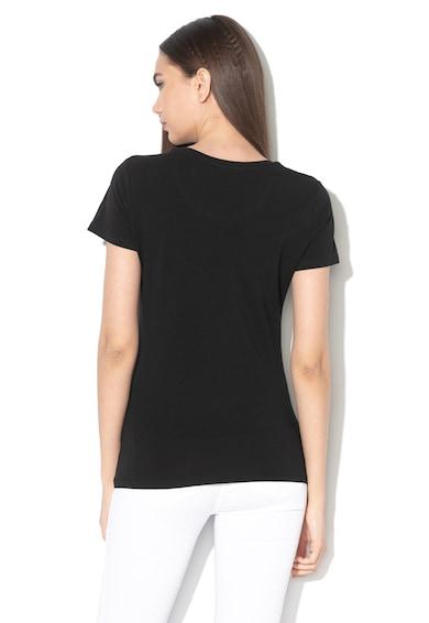 Liu Jo Logómintás póló strasszkövekkel női