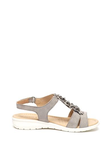Caprice Велурени сандали с флорални апликации Жени